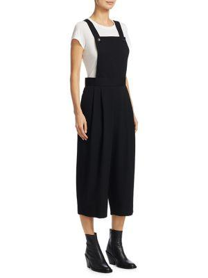 Comme Des GarÇOns Pleated Wool Overalls In Black
