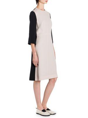 Marni Colorblocked Shift Dress In Pink