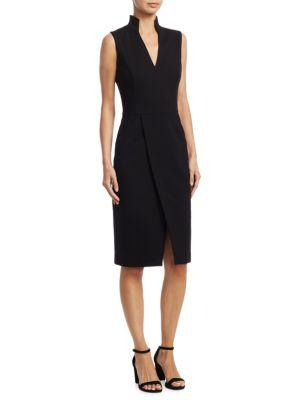Akris Punto V-Neck Shift Dress In Black