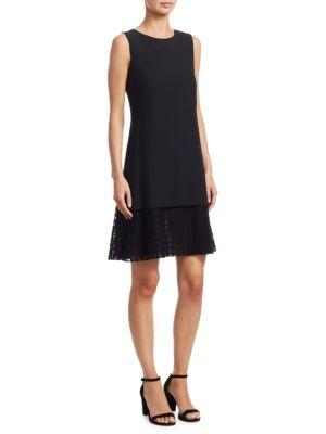 Akris Punto Sleeveless Lace-Hem Dress In Black