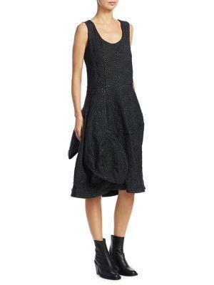 Comme Des GarÇOns Faux Leather Dress In Black