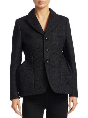 Comme Des GarÇOns Embossed Faux Leather Jacket In Black