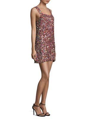 Alexis Gina Multicolor Sequin Mini Dress