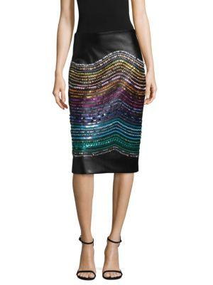 Romance Was Born Crystal Magnetic Rays Skirt In Black Multi