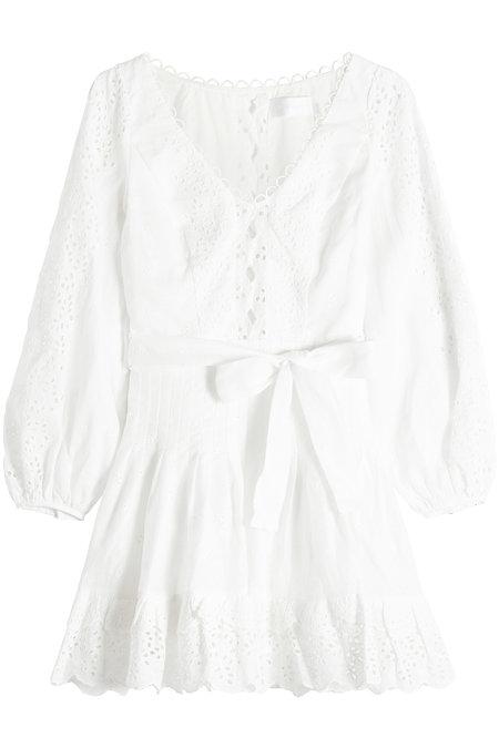 Zimmermann Eyelet Lace Mini Dress In White
