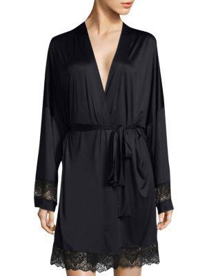 Hanro Luna Kimono Robe In Black