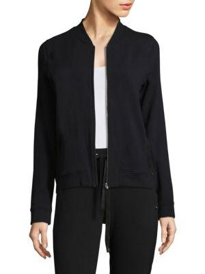 Hanro Kaya Zip Cardigan In Black