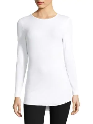 Hanro Mia Long-Sleeve Shirt In White