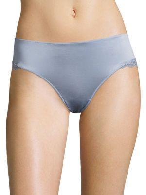 Hanro Luna Lace Hi-Cut Panty In Muted Blue