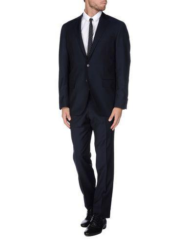 Lubiam Suits In Dark Blue