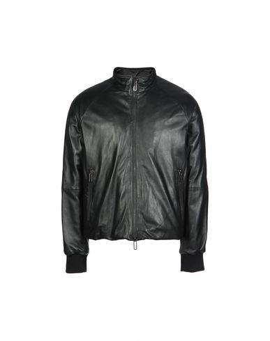 Emporio Armani Leather Jacket In Black