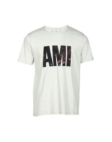 Ami Alexandre Mattiussi T-Shirts In Light Grey