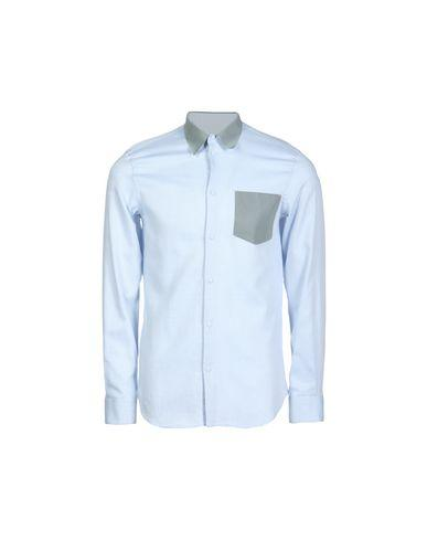 Emporio Armani Patterned Shirt In Sky Blue