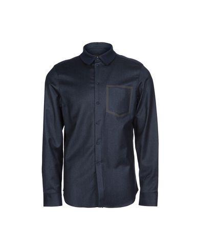 Emporio Armani Solid Color Shirt In Dark Blue