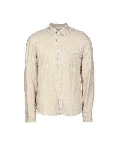 James Perse Linen Shirt In Sand