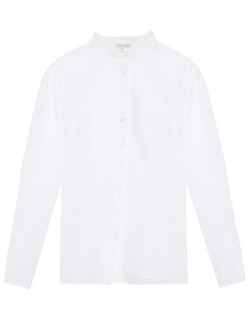 Sophie Theallet Anais Stand-Collar Shirt In White