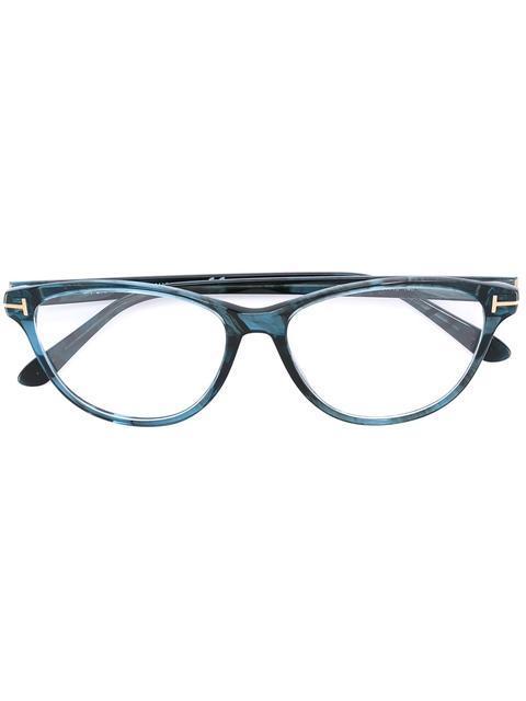 e6e4c323b562 Tom Ford Eyewear Cat Eye Shaped Glasses - Blue