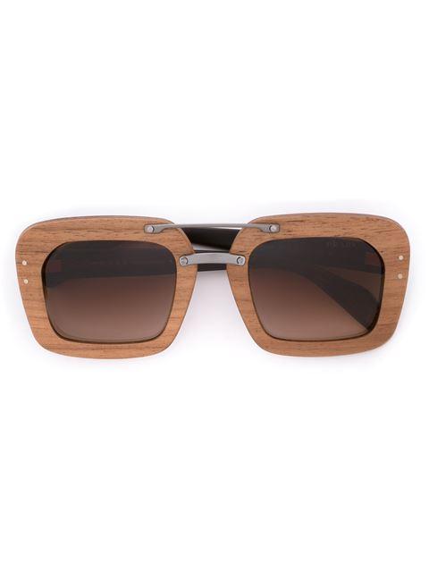 Prada Eyewear 'raw Avenue' Sunglasses - Brown