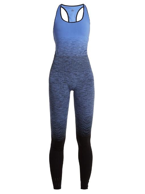 00ff33497 Pepper   Mayne Seamless OmbrÉ Compression Unitard In Blue Multi ...