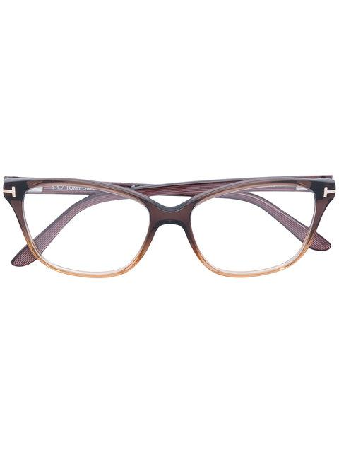 Tom Ford Eyewear Square-frame Glasses - Brown