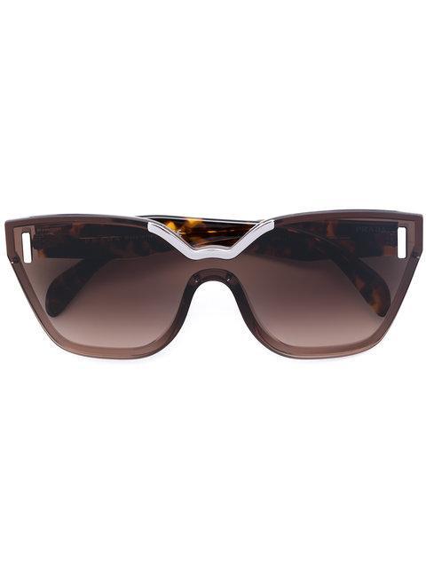 Prada Oversized Tortoiseshell Sunglasses In Brown