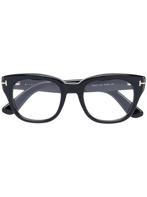 Tom Ford Square Frame Glasses In Black
