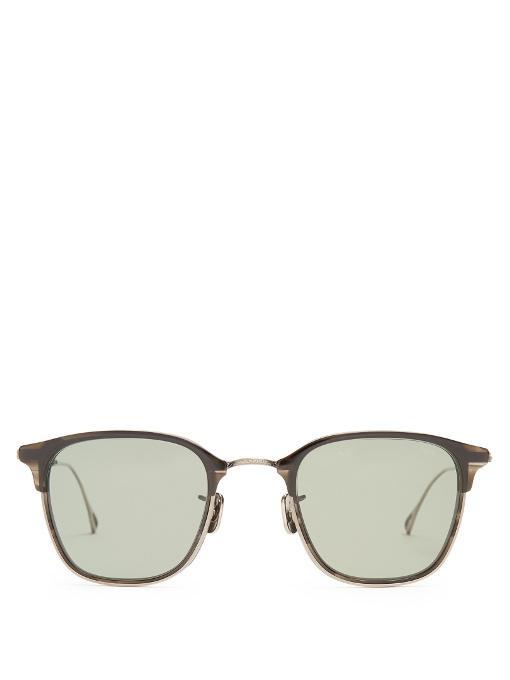 53b355f4717 Eyevan 7285 802 Foldable Titanium Sunglasses In Navy