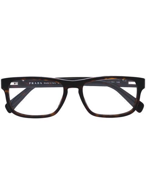 Prada Eyewear 'vpr07p' Glasses - Brown