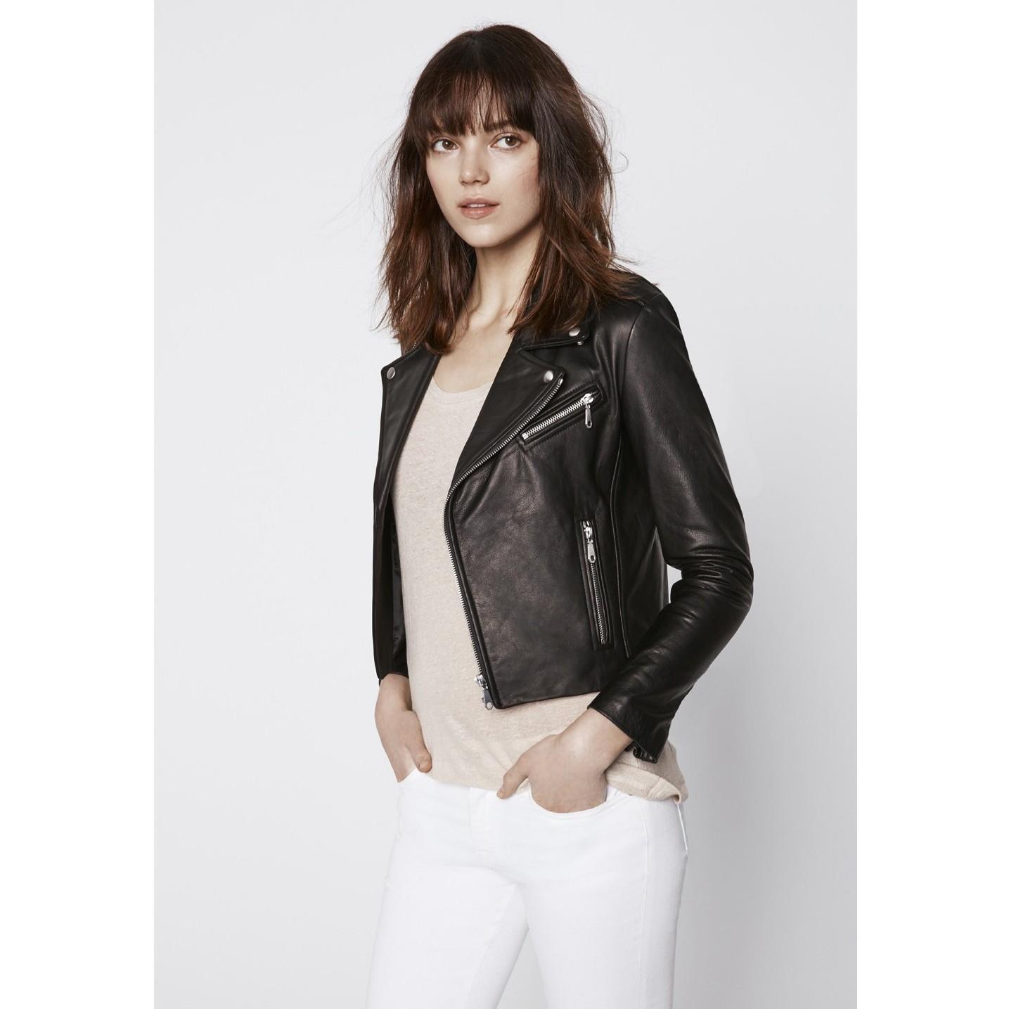 Rebecca Minkoff Nana Moto Jacket In Black