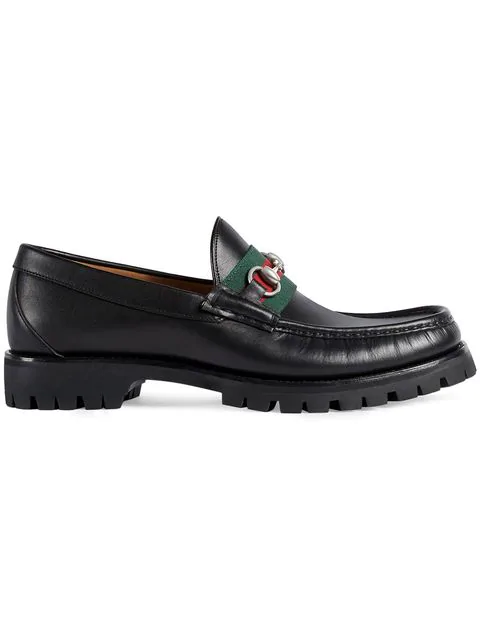 Gucci Vegas Horsebit Leather Loafers In Black