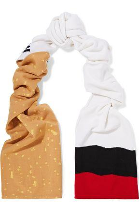 Moschino Woman Printed Wool Scarf White