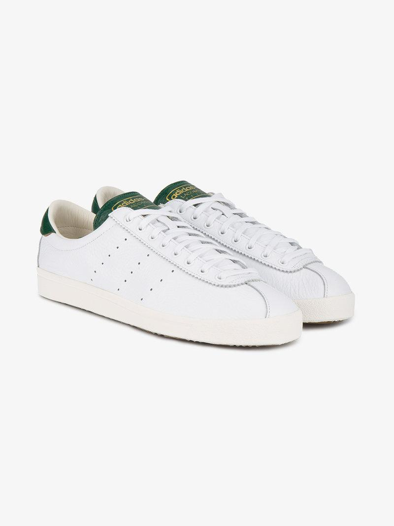 hot sale online 49baf 18271 Adidas Originals Lacombe Spzl Leather Sneakers In White