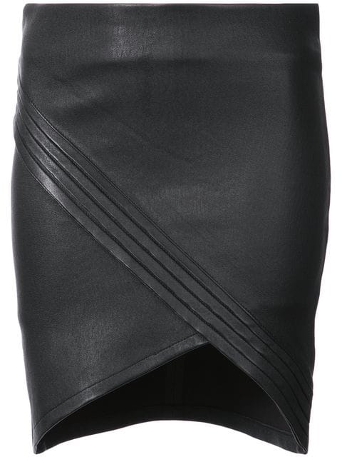 0aa1b6a17fe8 Rta Asymmetrical Leather Mini Skirt In Night Life | ModeSens