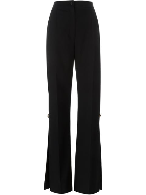 Dolce & Gabbana Embellished Wool Trousers In Black
