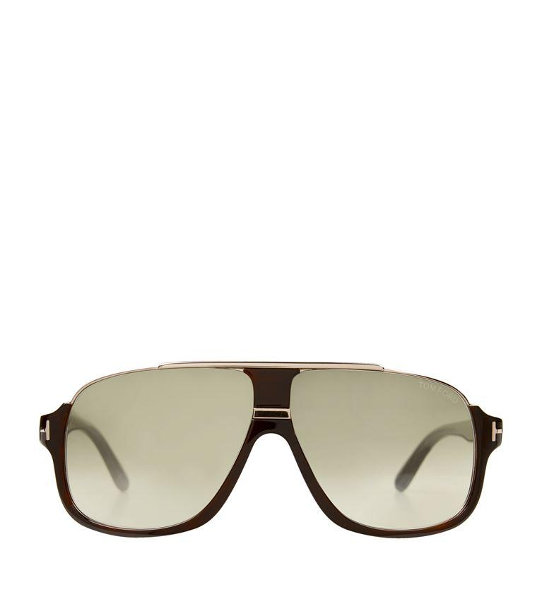 2522f28be52c6 Tom Ford Elliot Square Sunglasses In Brown
