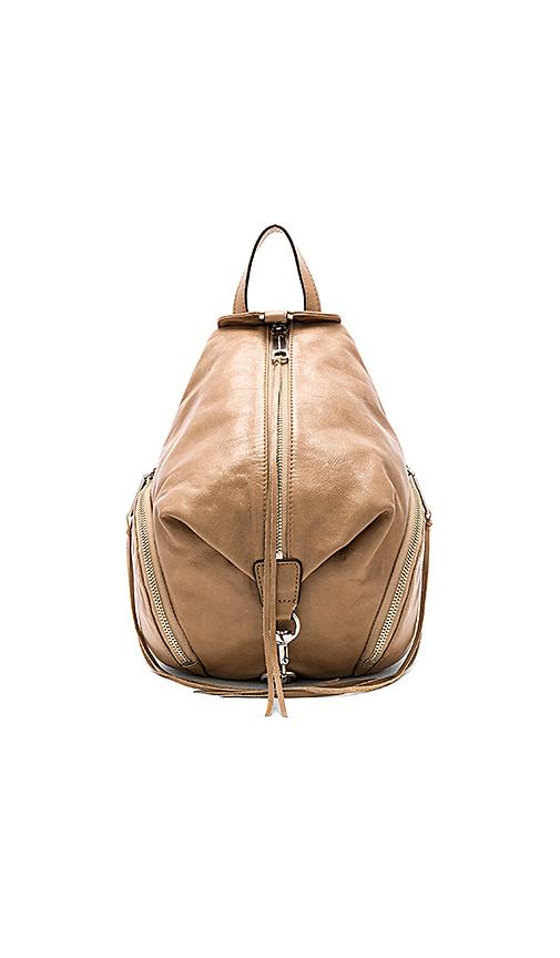 Rebecca Minkoff Medium Julian Backpack In Tan