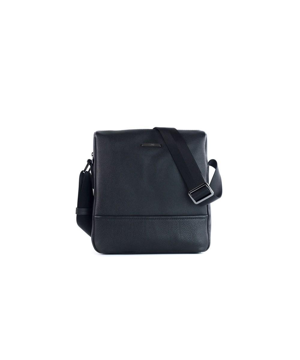 1c99eb8fa8b Hugo Boss Men's Black Element Leather Messenger Bag | ModeSens