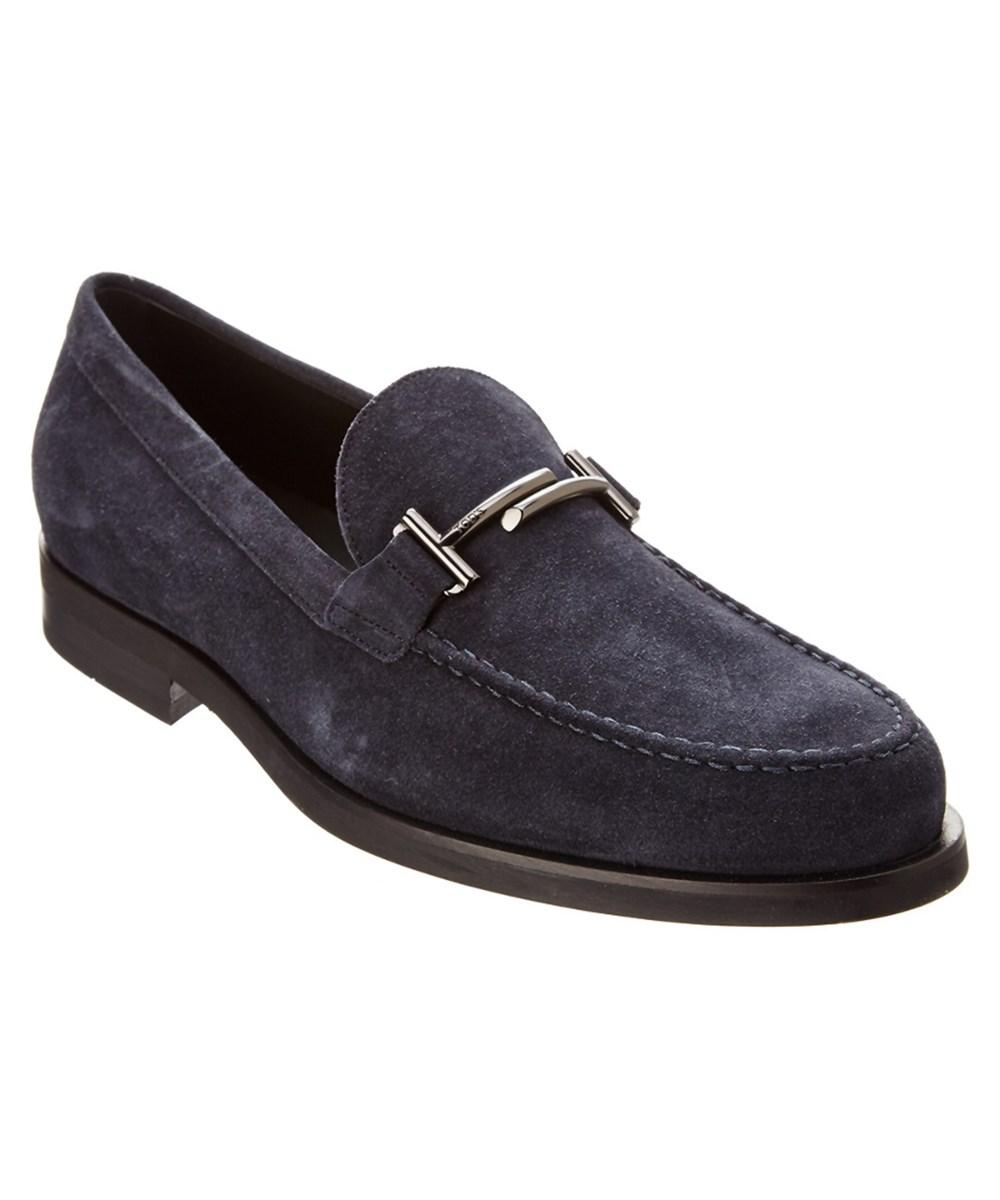 Tod's Suede Moccasin In Navy