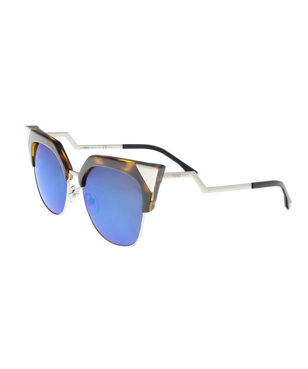 ec5f9dd1da Fendi Ff 0149 S 0Tlv Iridia Havana Palladium Cat Eye Sunglasses In Brown