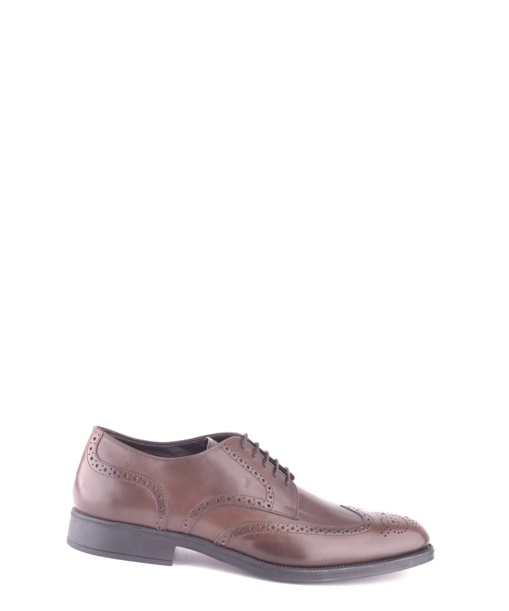 Tod's Men's  Brown Leather Lace-Up Shoes