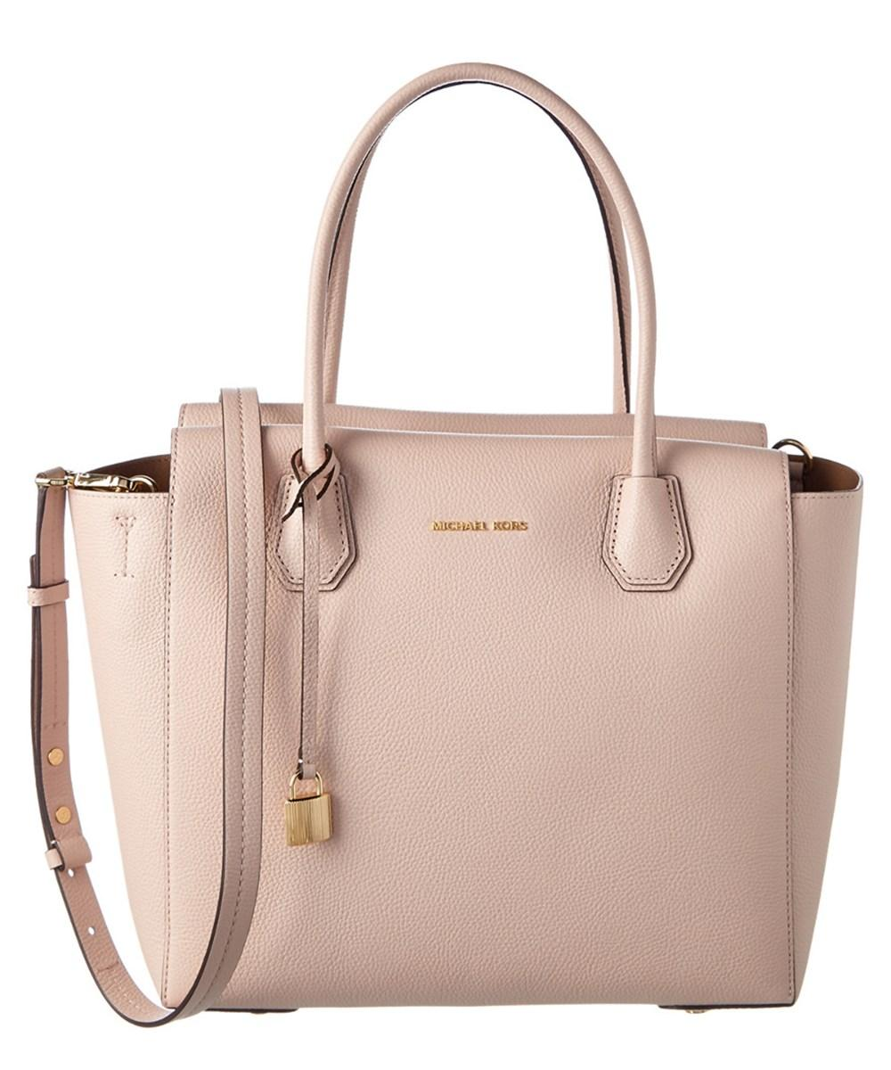 7660bb6f41c0 Michael Michael Kors Mercer Large Leather Satchel In Pink