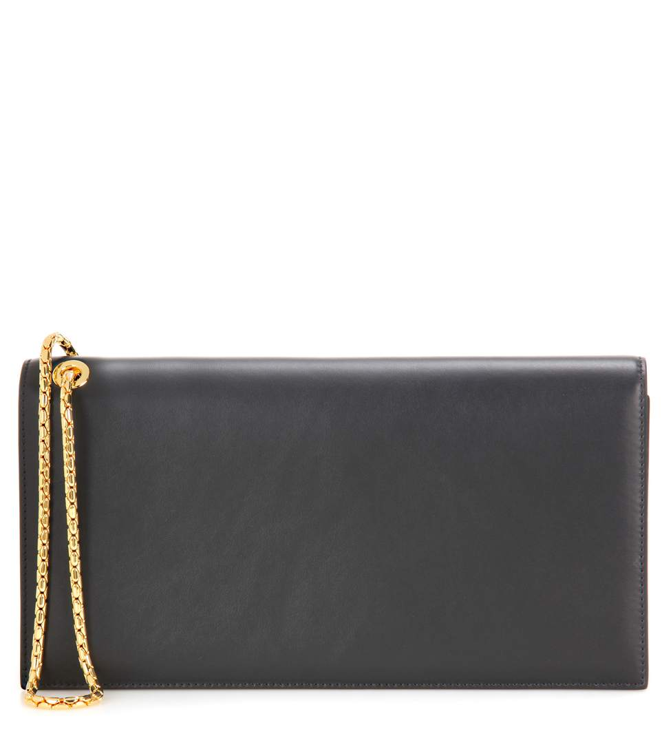 Tom Ford Leather Clutch In Black