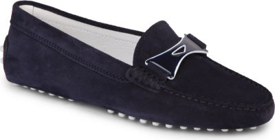 Tod's Gommino Driving Shoes In Suede In Navy