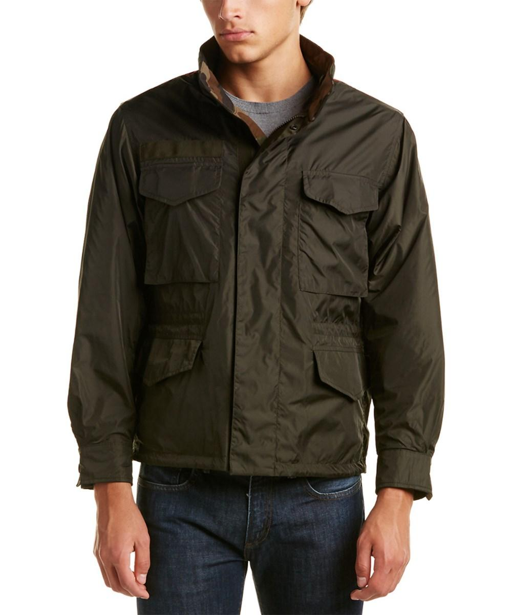 00a2c95c6 Moncler Saturne Reversible Military Jacket in Green