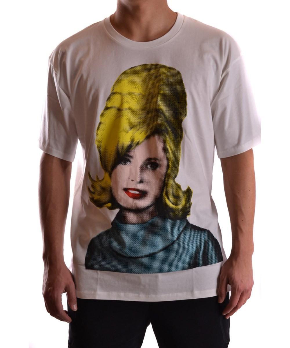 Jeremy Scott Men's  White Cotton T-Shirt