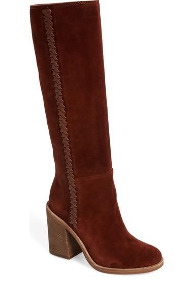 fb04691bf46 UGG Maeva Knee High Boot, Black Suede   ModeSens