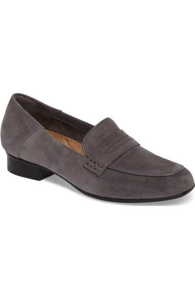 26b607bed8b Clarks Keesha Cora Loafer In Grey Suede