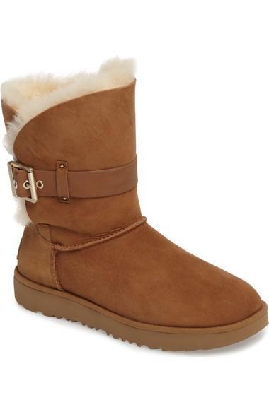 95404aa283d Women's Jaylyn Sheepskin & Leather Booties in Chestnut Suede
