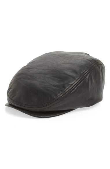 02853b8bbea Crown Cap Leather Driving Cap - Brown In Med. Brown