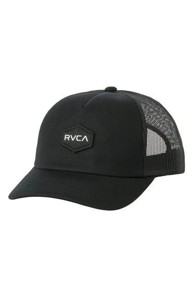 Rvca Commonwealth Trucker Hat In Black